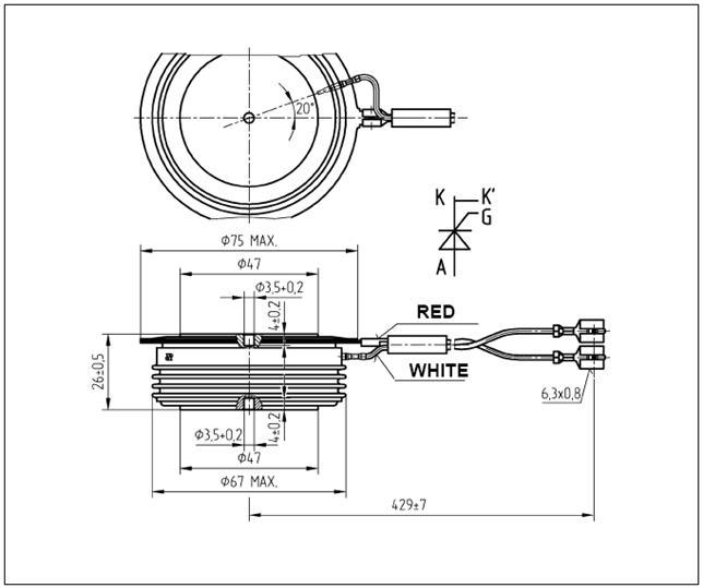 5stp16f2801 abb - phase control thyristor 2800v
